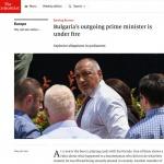 The Economist: Отиващият си български премиер е под обстрел