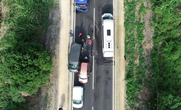 Поредна катастрофа на Околовръстното шосе на Пловдив. На този етап