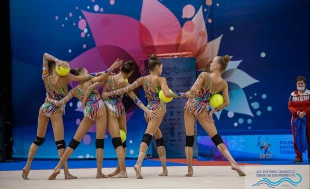 Ансамбълът ни със сребърен медал на Европейското по художествена гимнастика във Варна