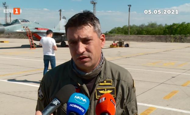 Пилотът на падналия МиГ-29 е майор Валентин Терзиев, началник щаб на ескадрила