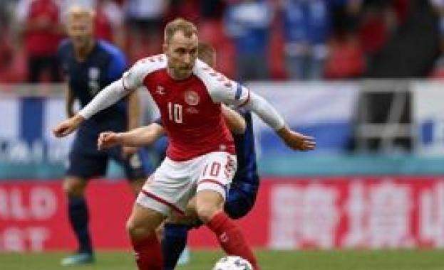 Датският полузащитник Кристиан Ериксен отправи послание към феновете от болницата
