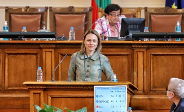Ива Митева от ИТН е новия председател на Народното събрание