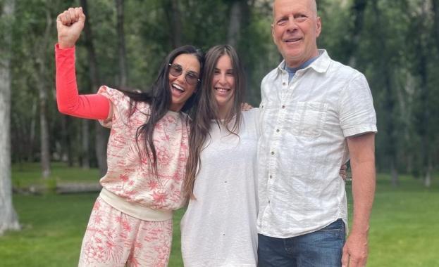 Деми Мур и Брус Уилис отпразнуваха заедно 30 годишния рожден ден на дъщеря си