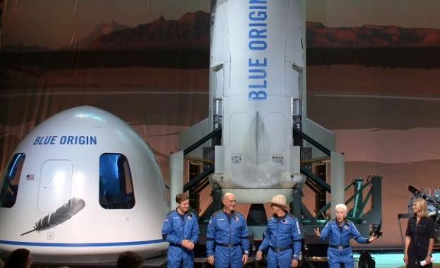САЩ няма да признаят Безос, Брансън и спътниците им за астронавти