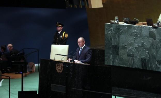 Румен Радев пред ООН:  Загрижени сме от ситуацията в Афганистан, Близкия изток и Украйна