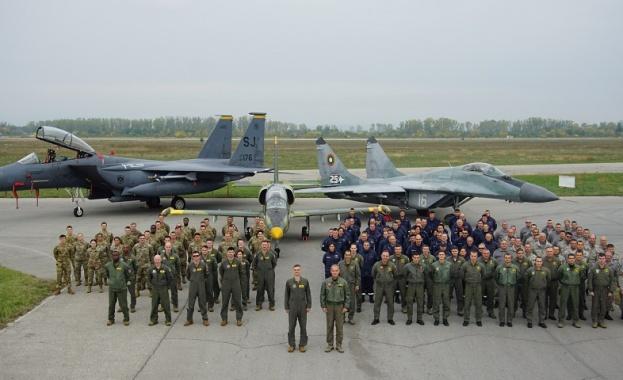 """Авиобаза Граф Игнатиево е домакин на летателната тренировка """"Castle Forge"""