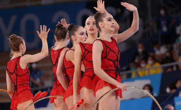 Олимпийските шампионки от Ансамбъла по художествена гимнастика на България се